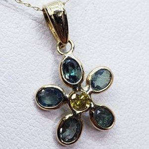 10k Alexandrite & Diamond Necklace